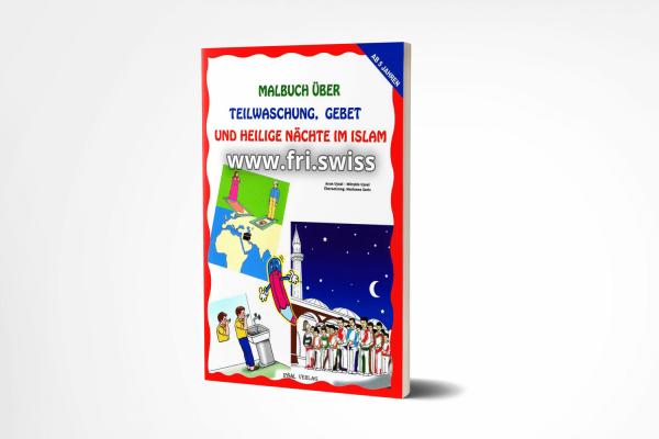 Malbuch über Teilwaschung, Gebet und heilige Nächte im Islam